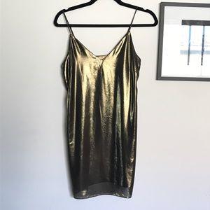 Wilfred gold slip dress size xs